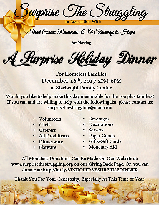 It's A Surprise Holiday Dinner Party!