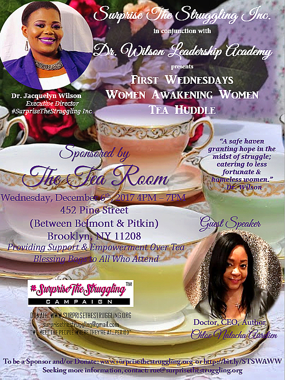 December's Women Awakening Women Tea Huddle to Feature Dr. Natacha Aurelien