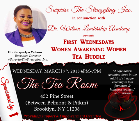 First Wednesday Tea Huddle…Guest Speaker, Activist Thamicha Isaac